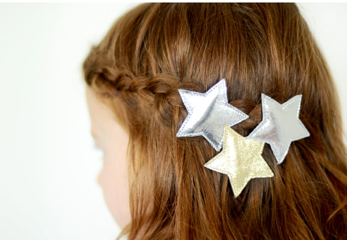 Bang braid with star clips