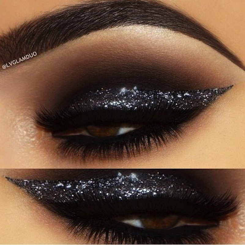 Black glitter wing