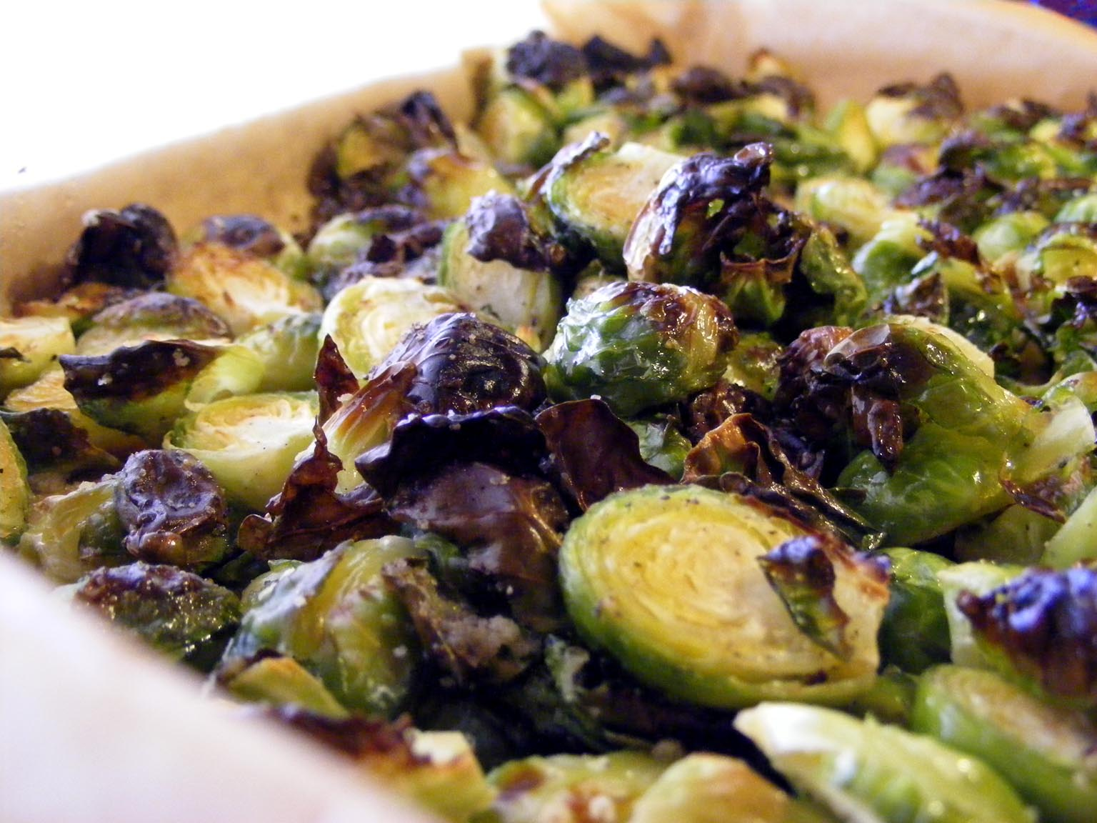 Brussels sprouts with white truffle oil