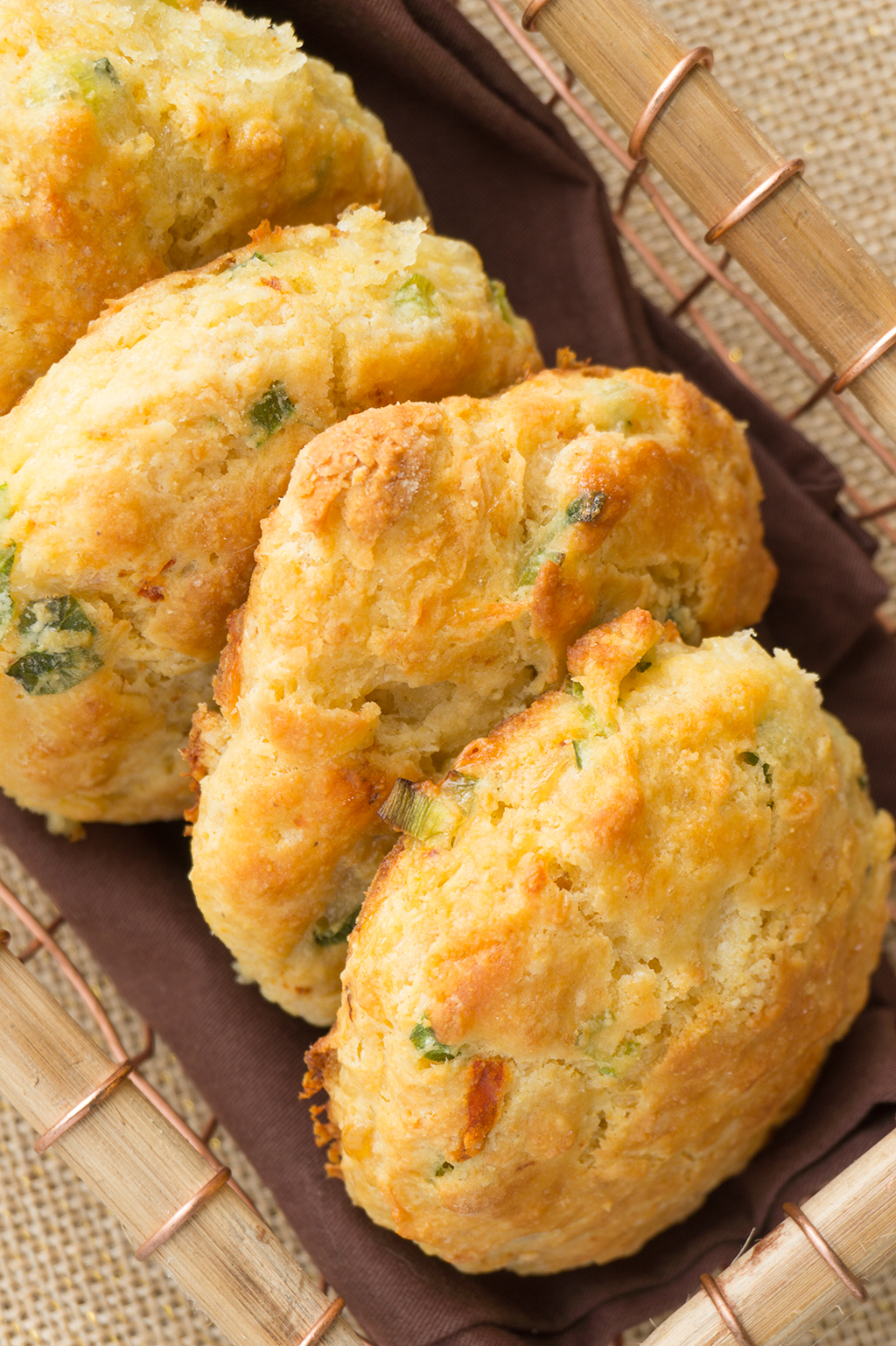 Cheddar chipotle buttermilk biscuit with cornmeal