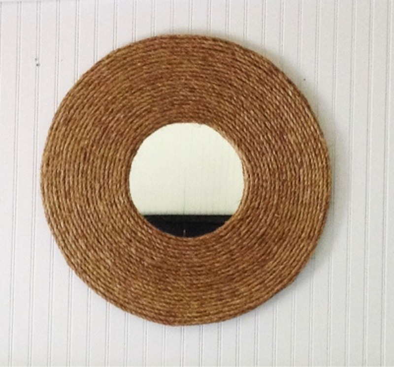 Coiled rope mirror