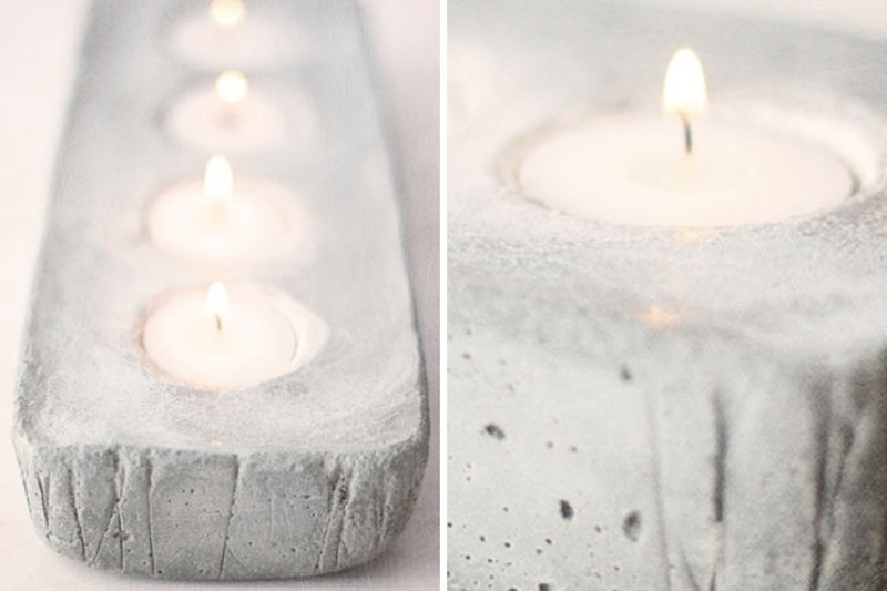 Concrete votive holder