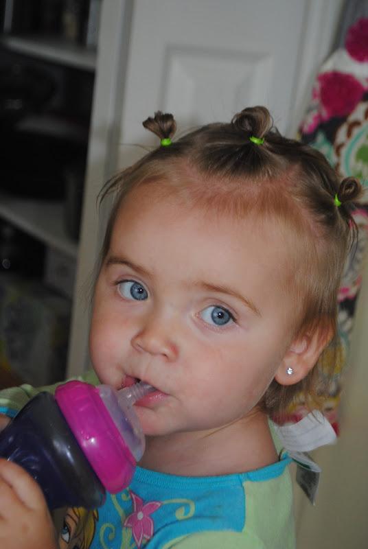 Crown of messy buns toddler hair