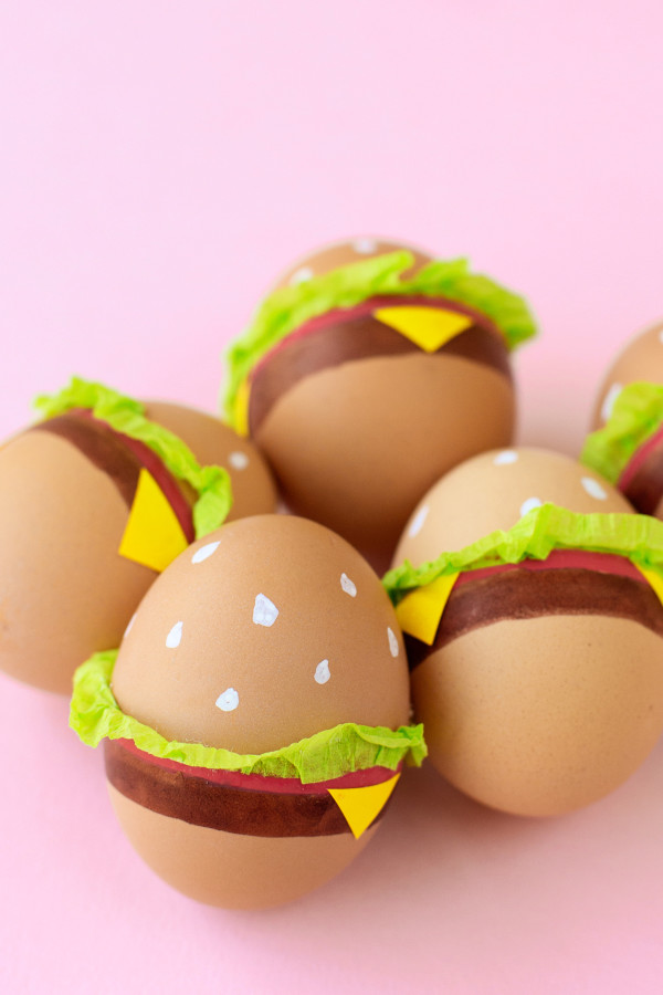 Diy cheeseburger easter eggs