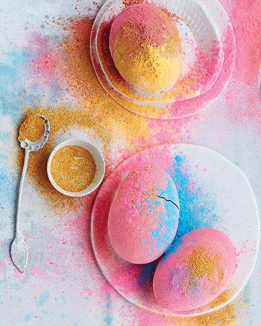 Diy colored powder easter eggs