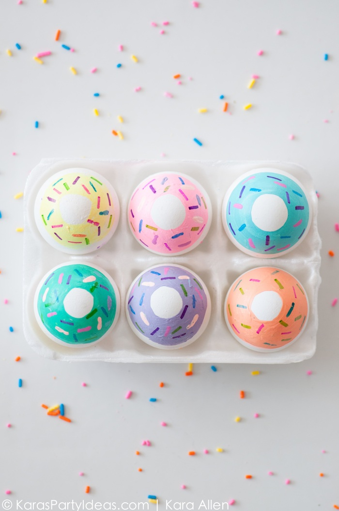Diy donut easter eggs