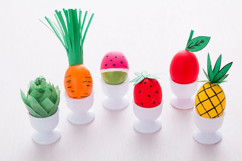 Diy fruit and veg easter eggs
