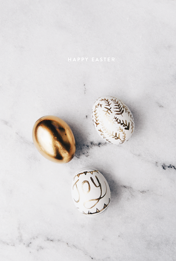 Diy golden easter eggs