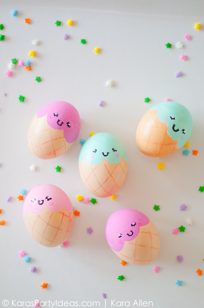 Diy icea cream cone easter eggs
