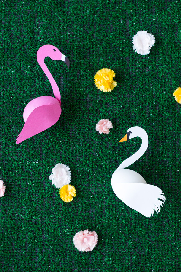 Diy swan and flamingo easter eggs