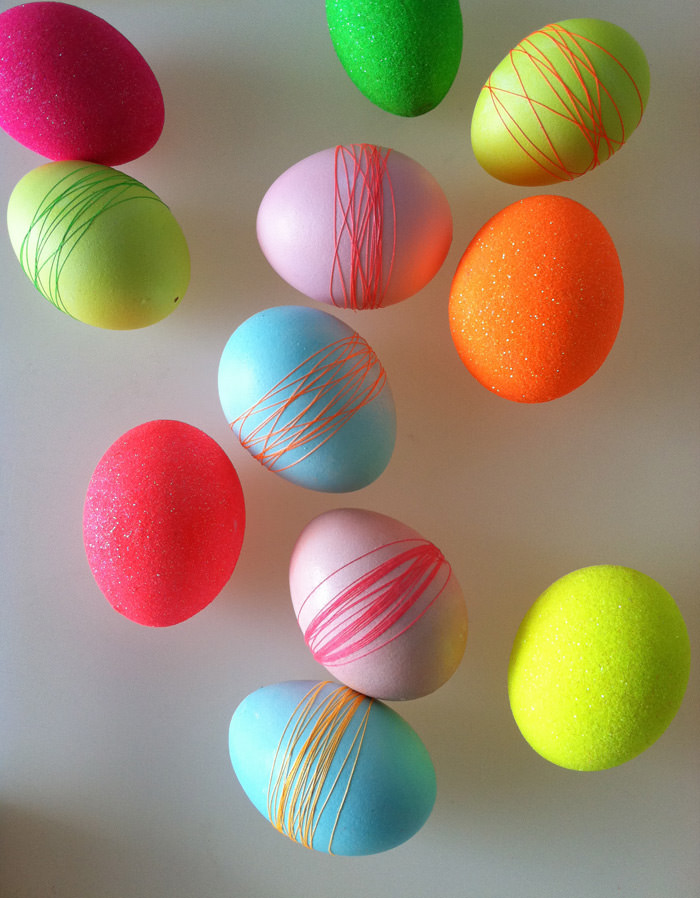 Diy threaded easter eggs