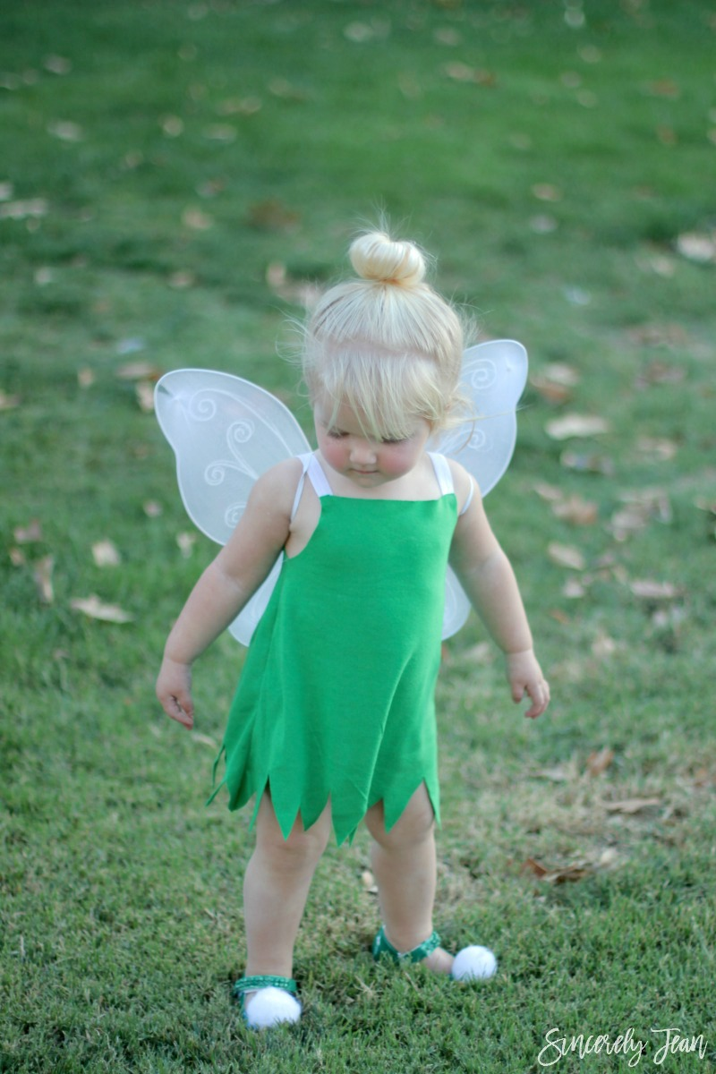 Diy toddler tinkerbell hair