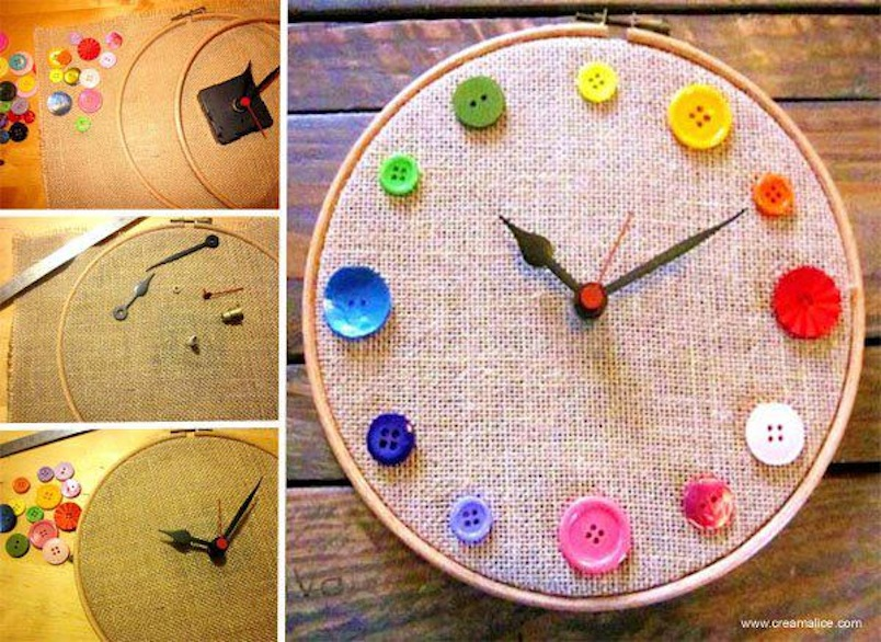 Diy button clock