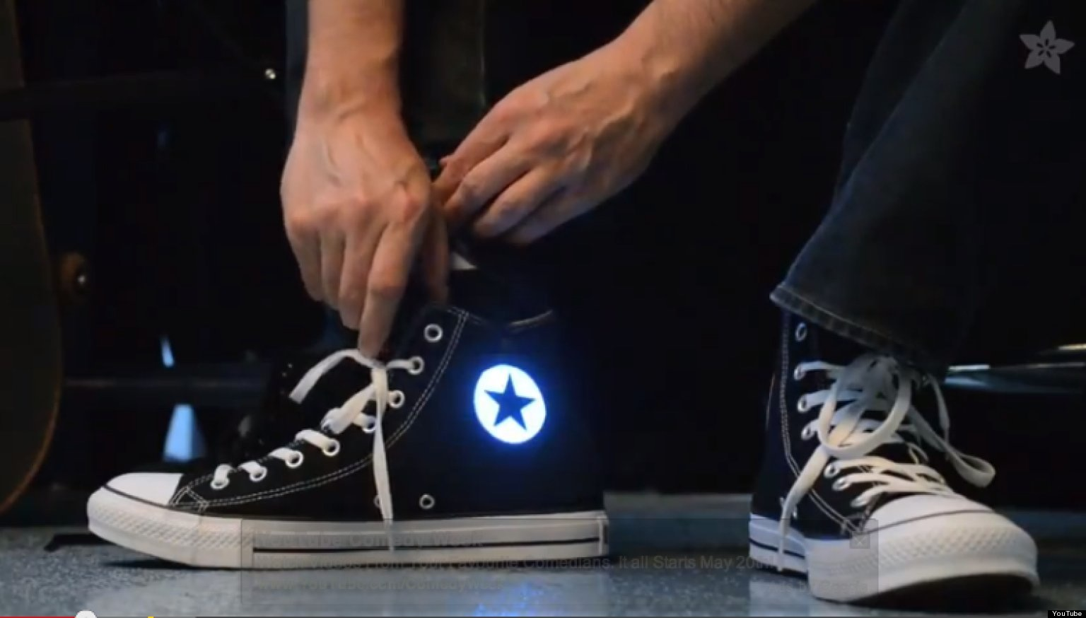 Diy light up high tops logo