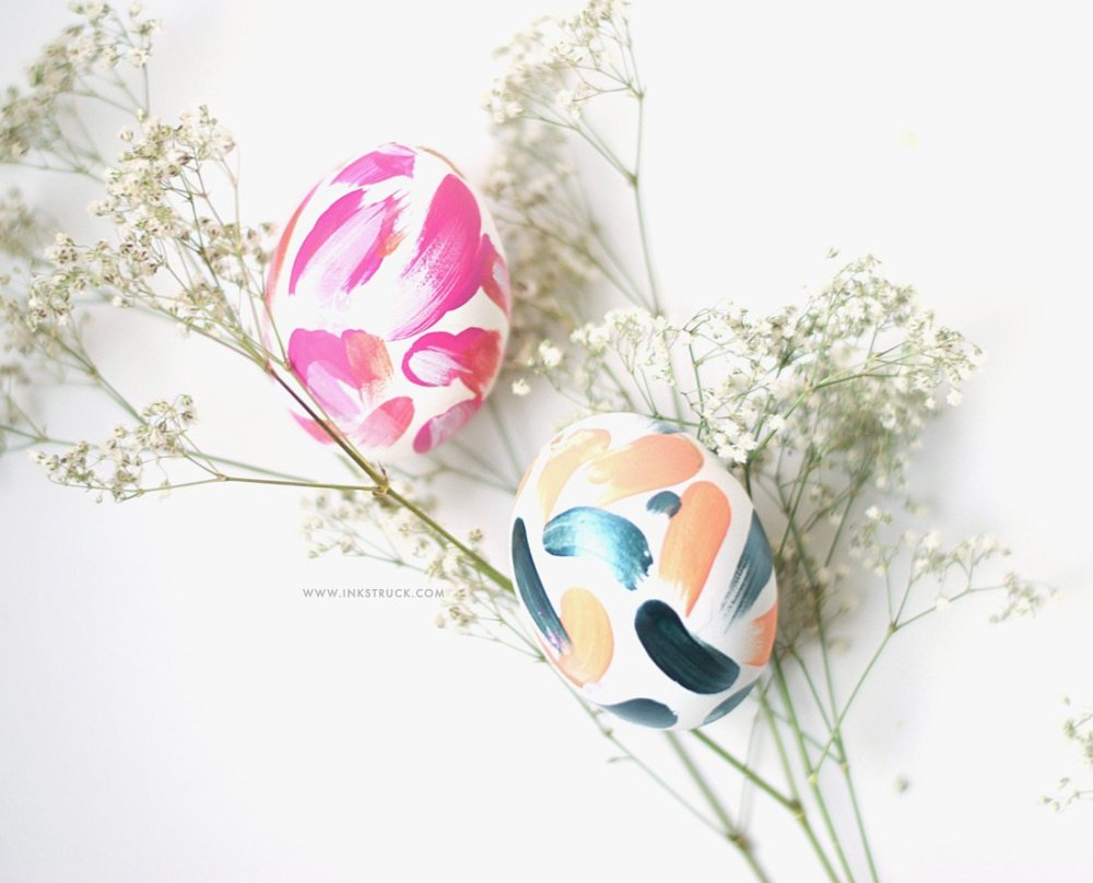 Diy simple abstract easter eggs