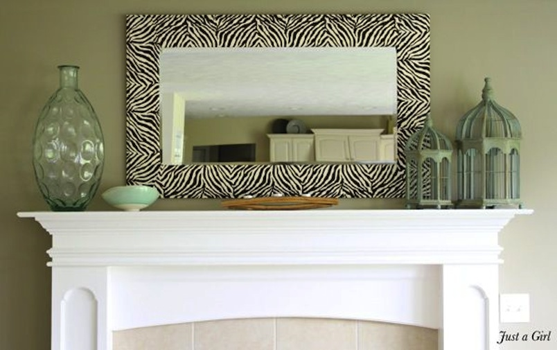 Diy zebra mirror