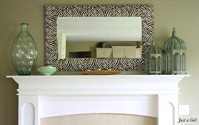 Diy zebra mirror