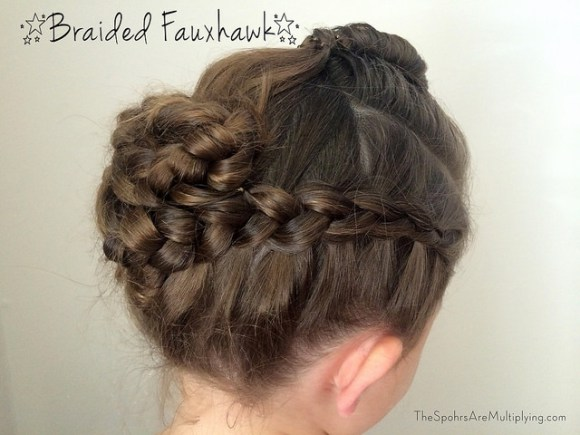 Diy braided fauxhawk for toddlers
