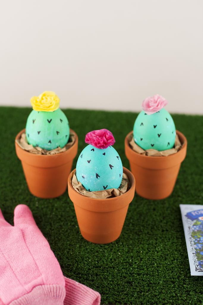 Diy cactus easter eggs