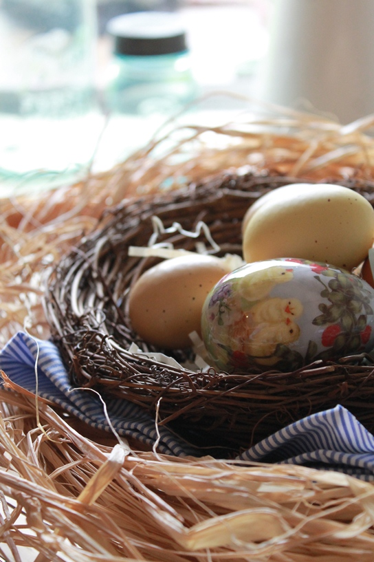 Diy nested eggs centerpiece