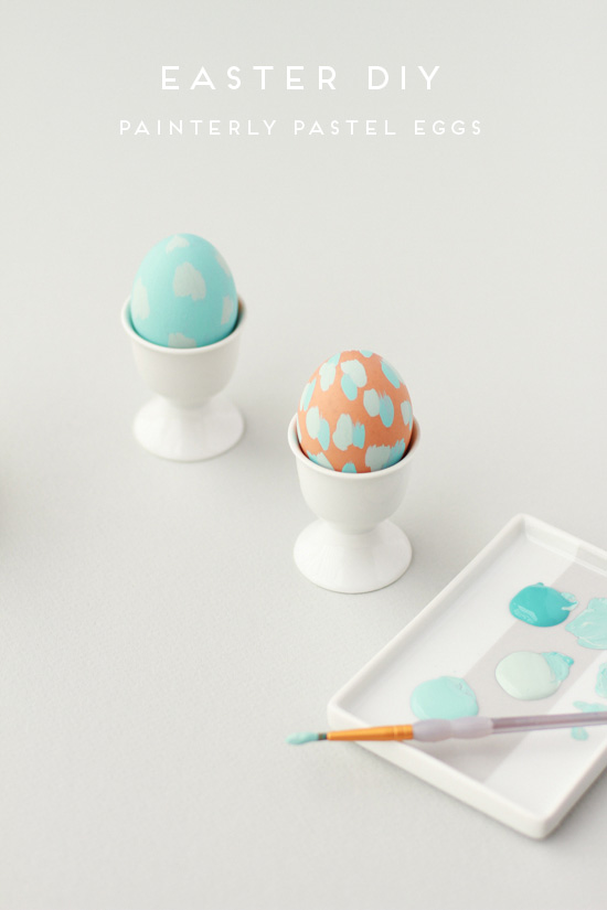 Diy painterly pastel easter eggs
