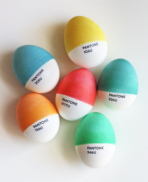 Diy pantone color easter eggs