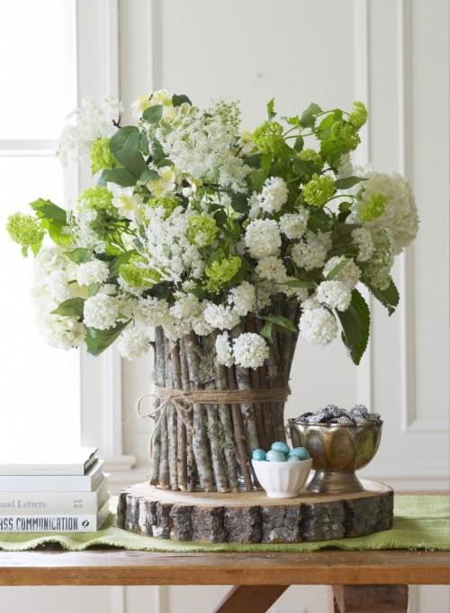 Diy twig vase centerpiece