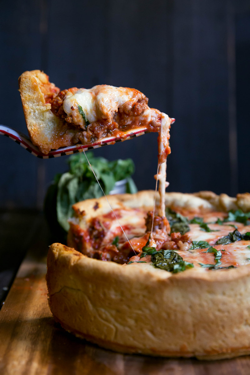 Deep dish pizza recipe with cornmeal
