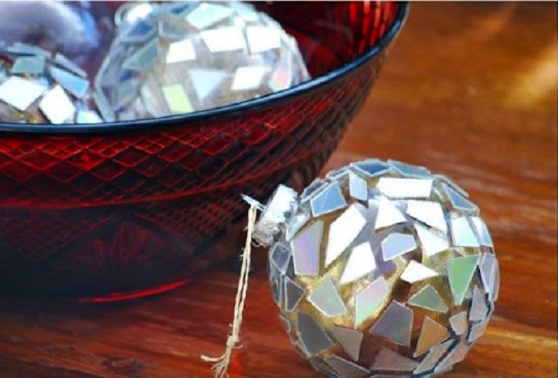 Disco ball christmas ornaments