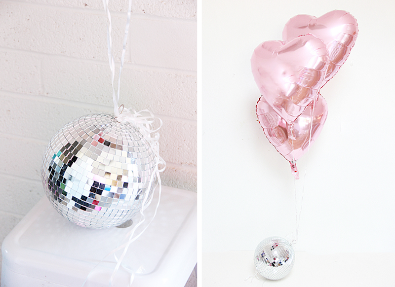 Disco ball balloon anchor