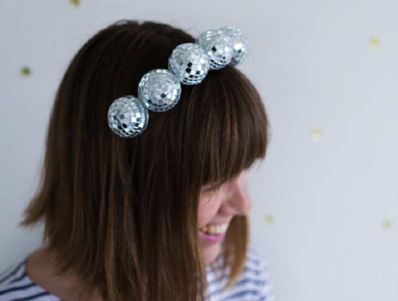Disco ball hairband