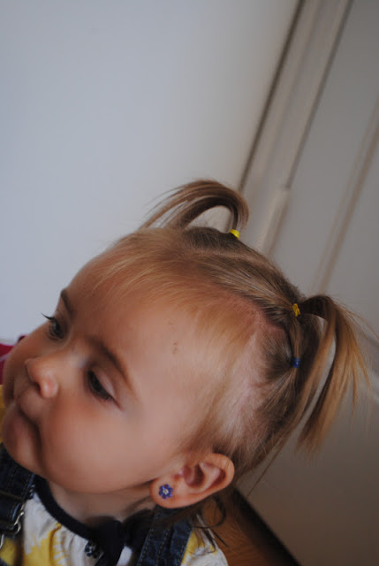 Double pigtails toddler hair