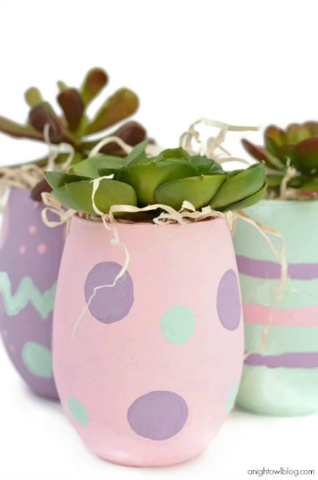 Easter egg vases
