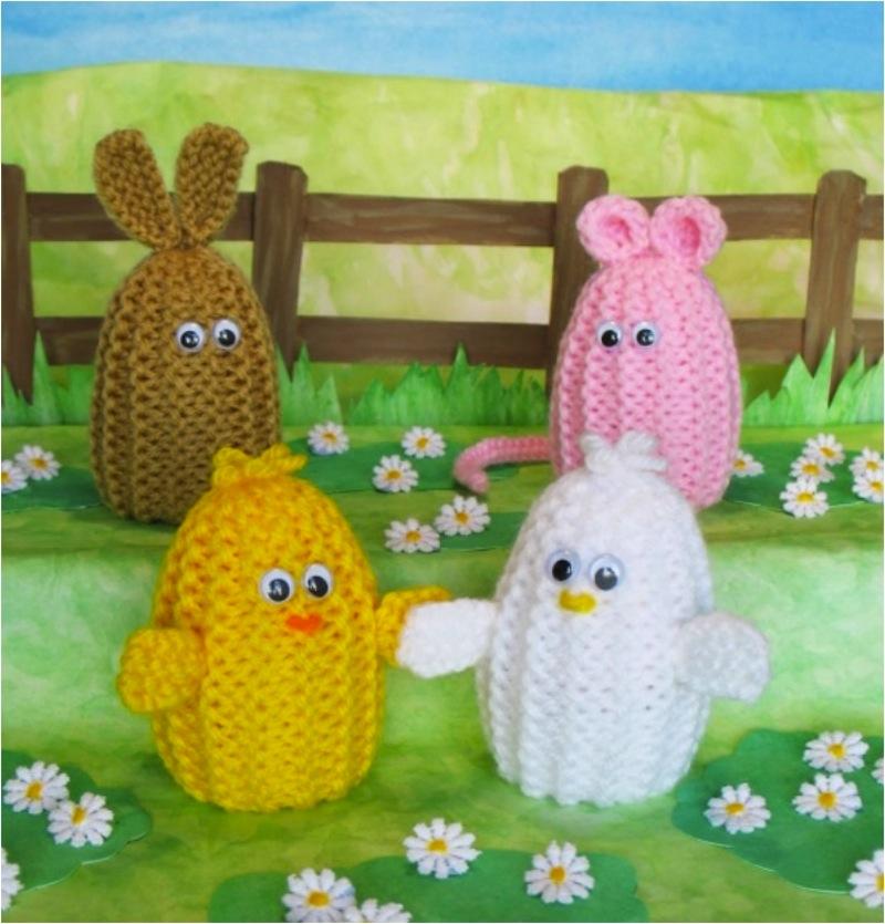Easter egg farm animal cozies