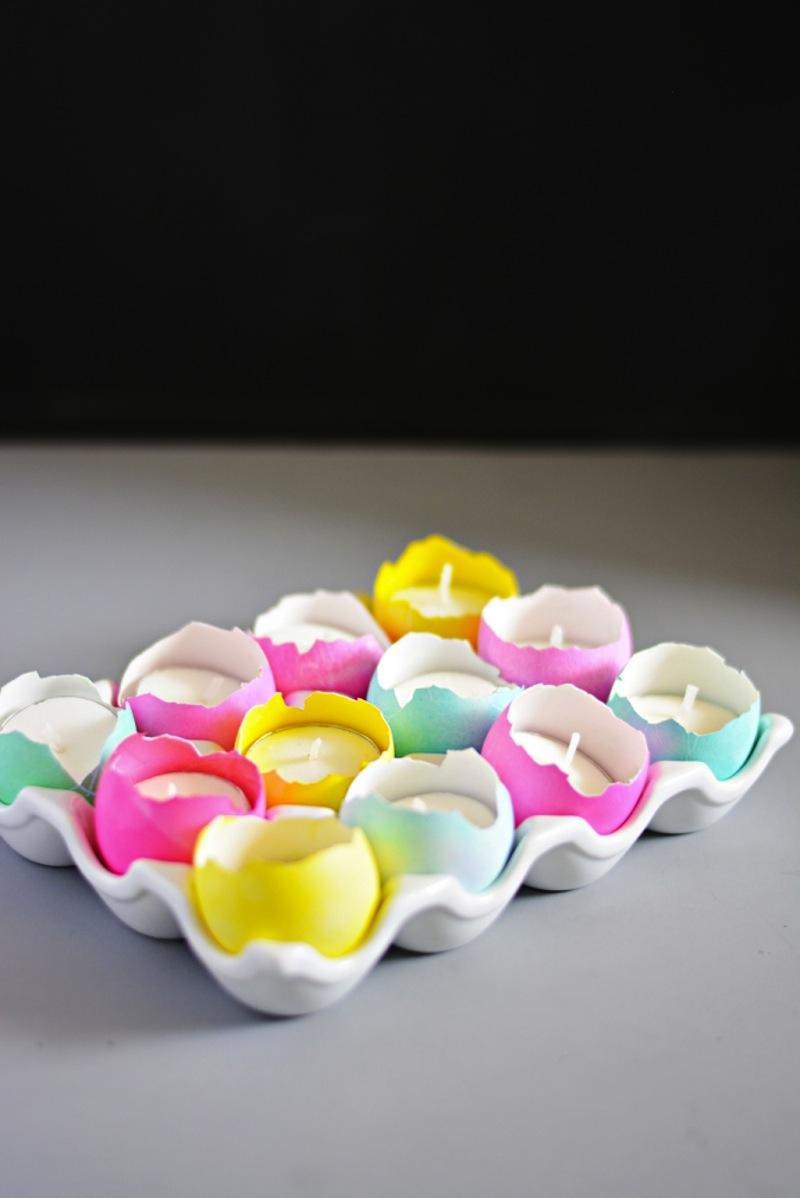 Easter egg shall tea light holders