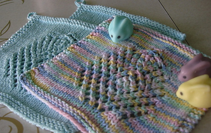 Easter egg wash cloth