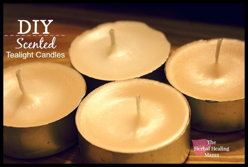Easy diy scented tea light candles
