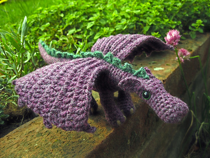 Fierce little dragon doll