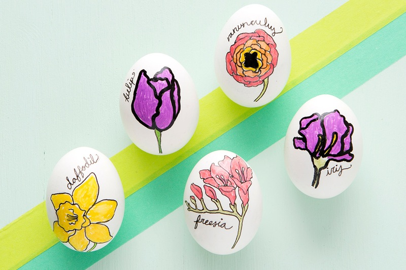 Floral easter egg diy