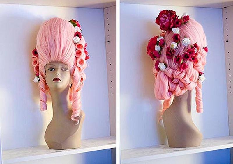 Flower embellished marie antoinette wig