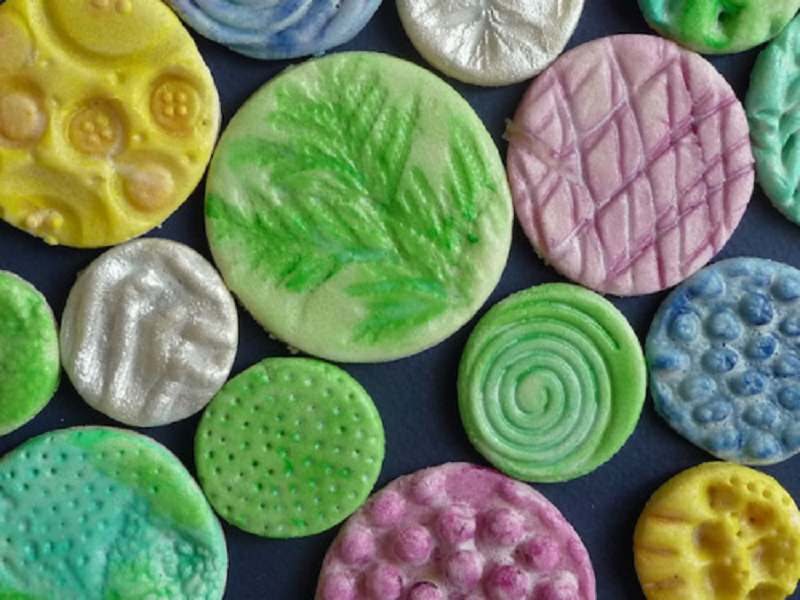 Fun textured salt dough