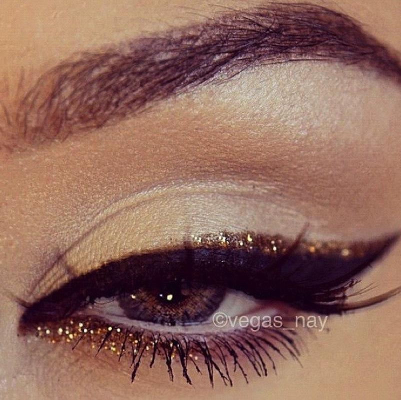 Glitter lined eyeliner