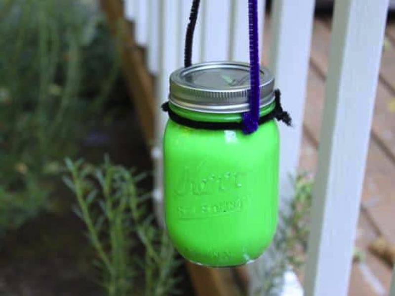 Glow paint lantern