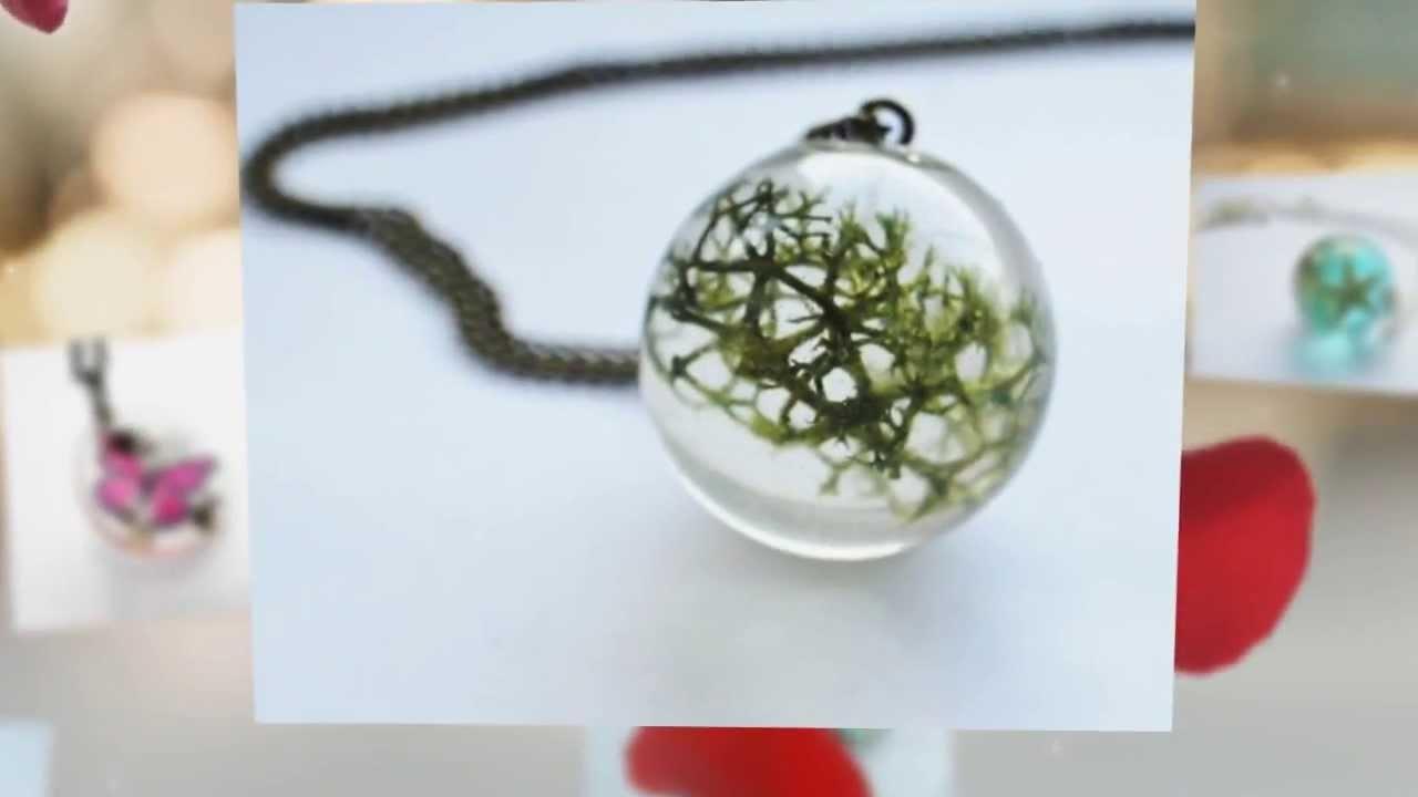 Greenery raindrop pendant
