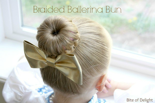 Hair braided ballerina bun