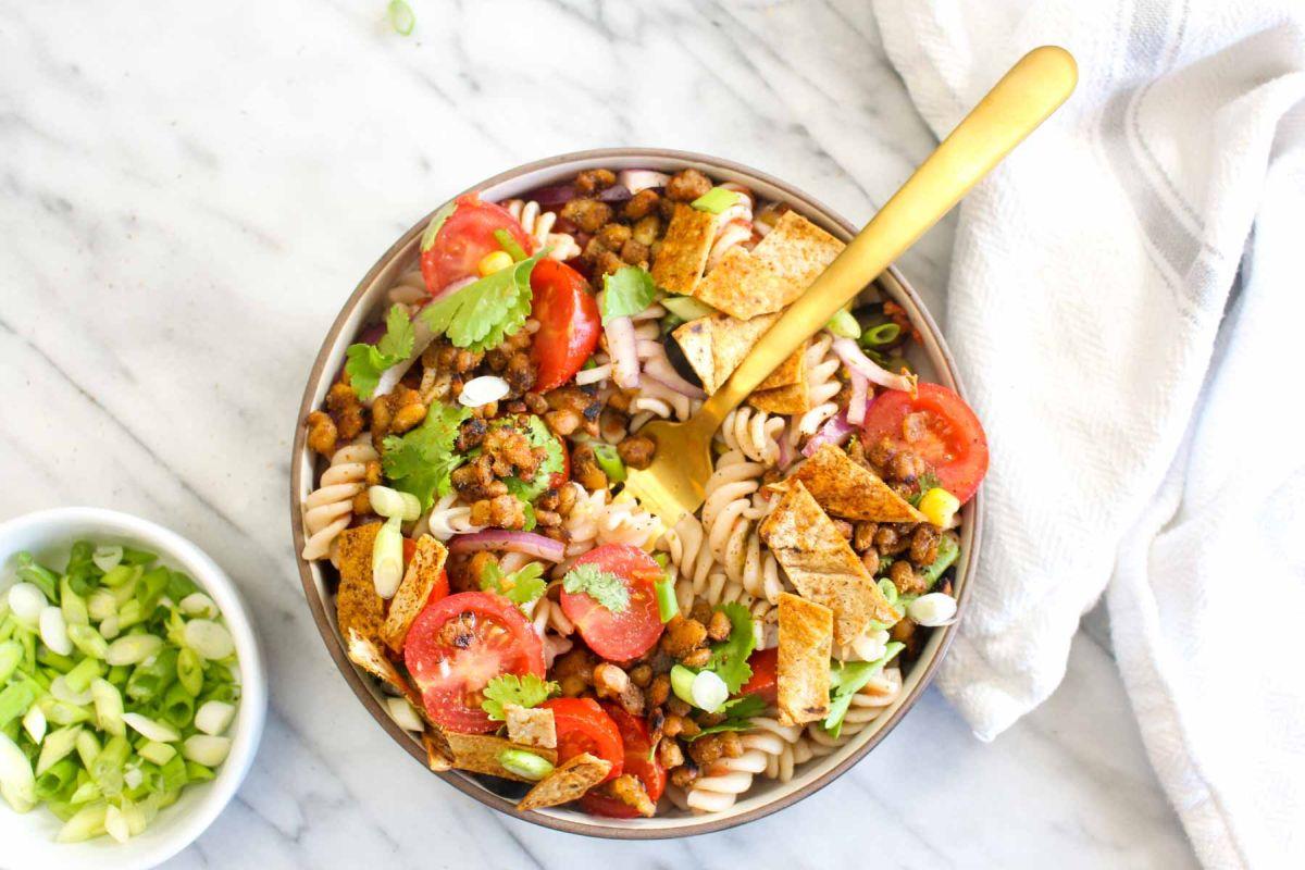 Healthy taco pasta salad easy to do