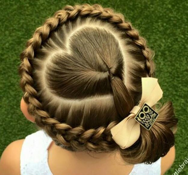 Heart crown braid toddlery hair