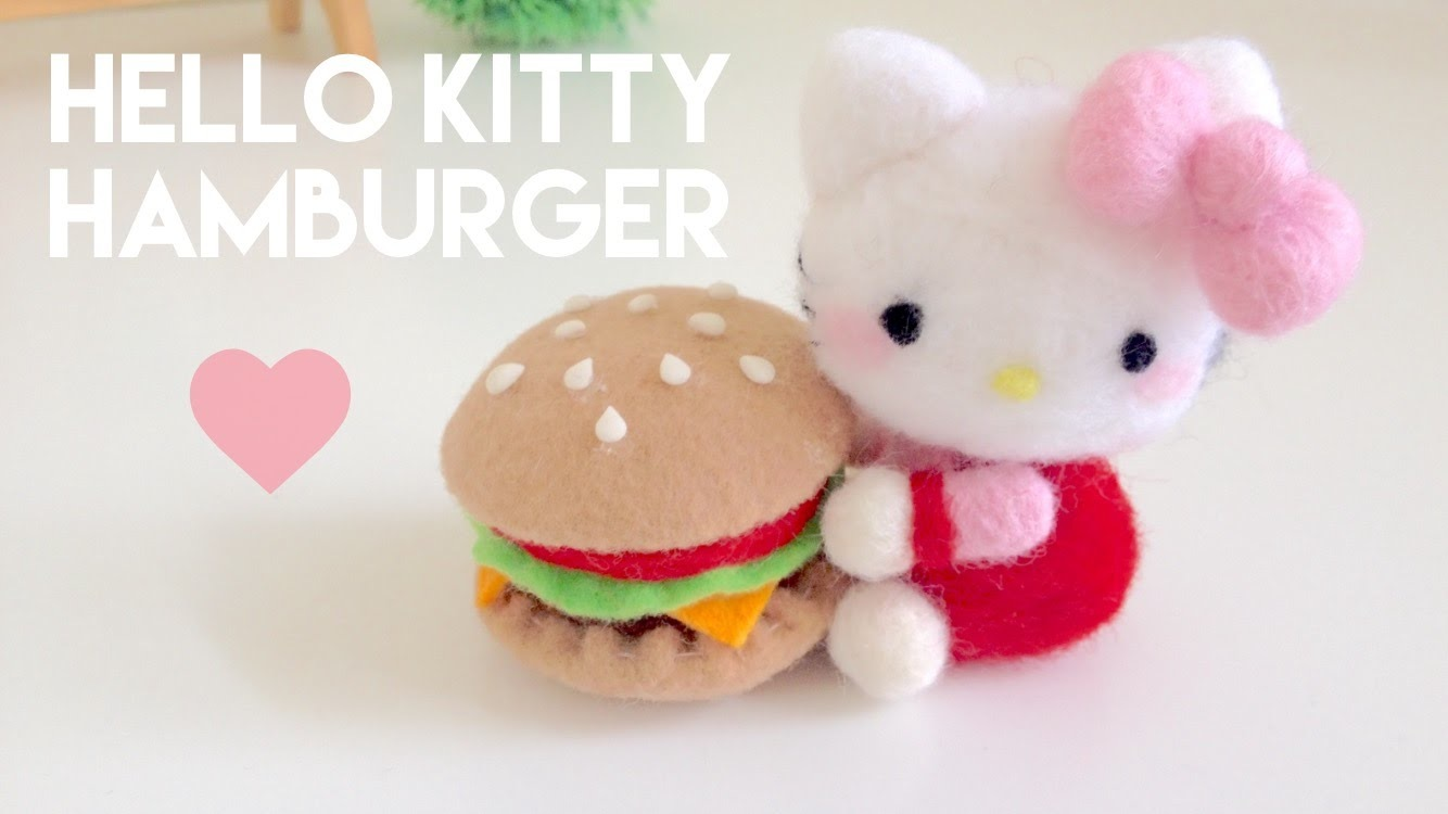 Hello kitty (with a hamburger)
