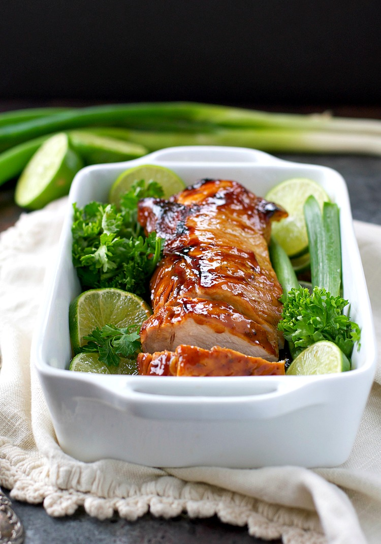 Hoisin glazed pork loin