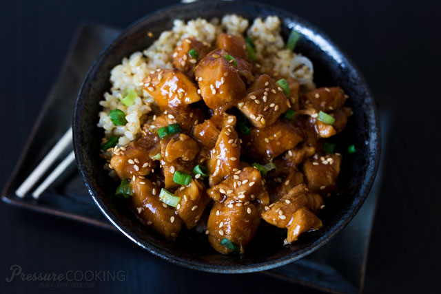 Honey sesame chicken pressure cooking today